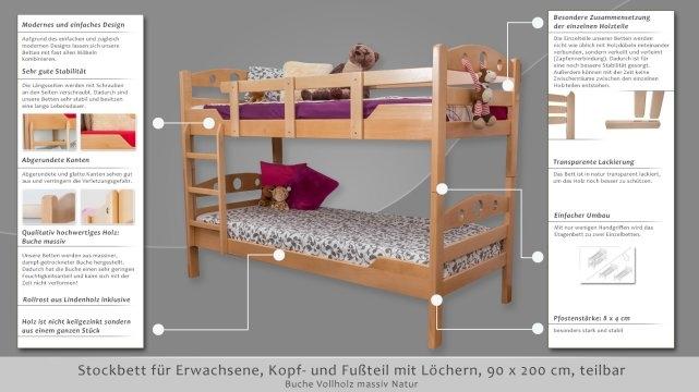 Puppenbett Etagenbett Holz : Puppenbett holz hochbett mit leiter bettzubehör stabil