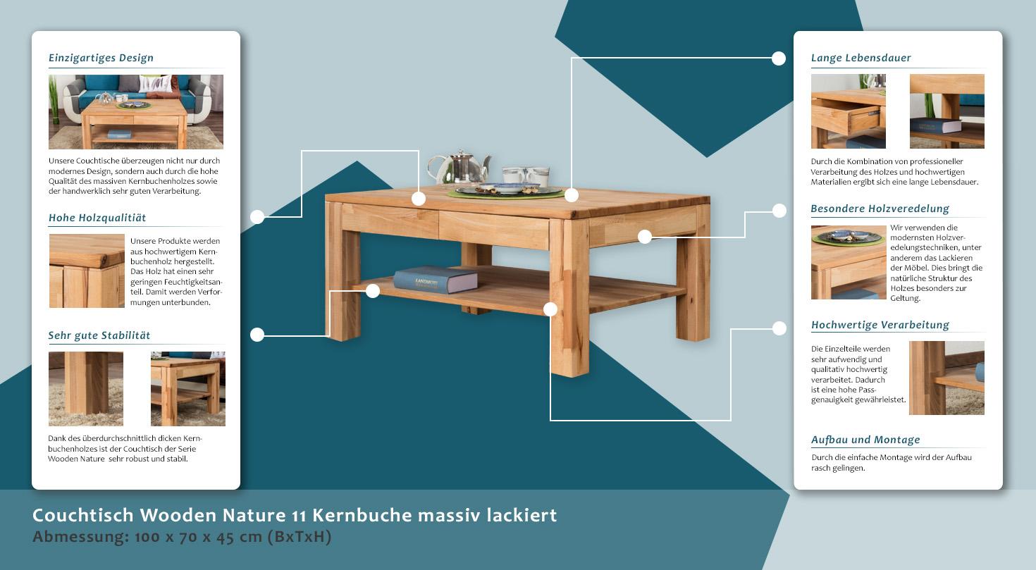 Kernbuche 50x50 kernbuche 50x50 with kernbuche 50x50 for Couchtisch 50x50