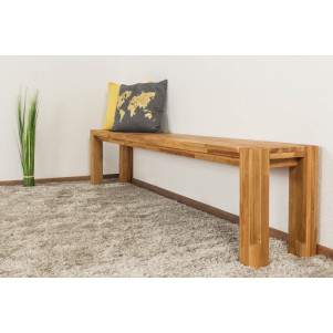 Bank Wooden Nature 133 Eiche massiv - 200 x 33 cm (L x B)