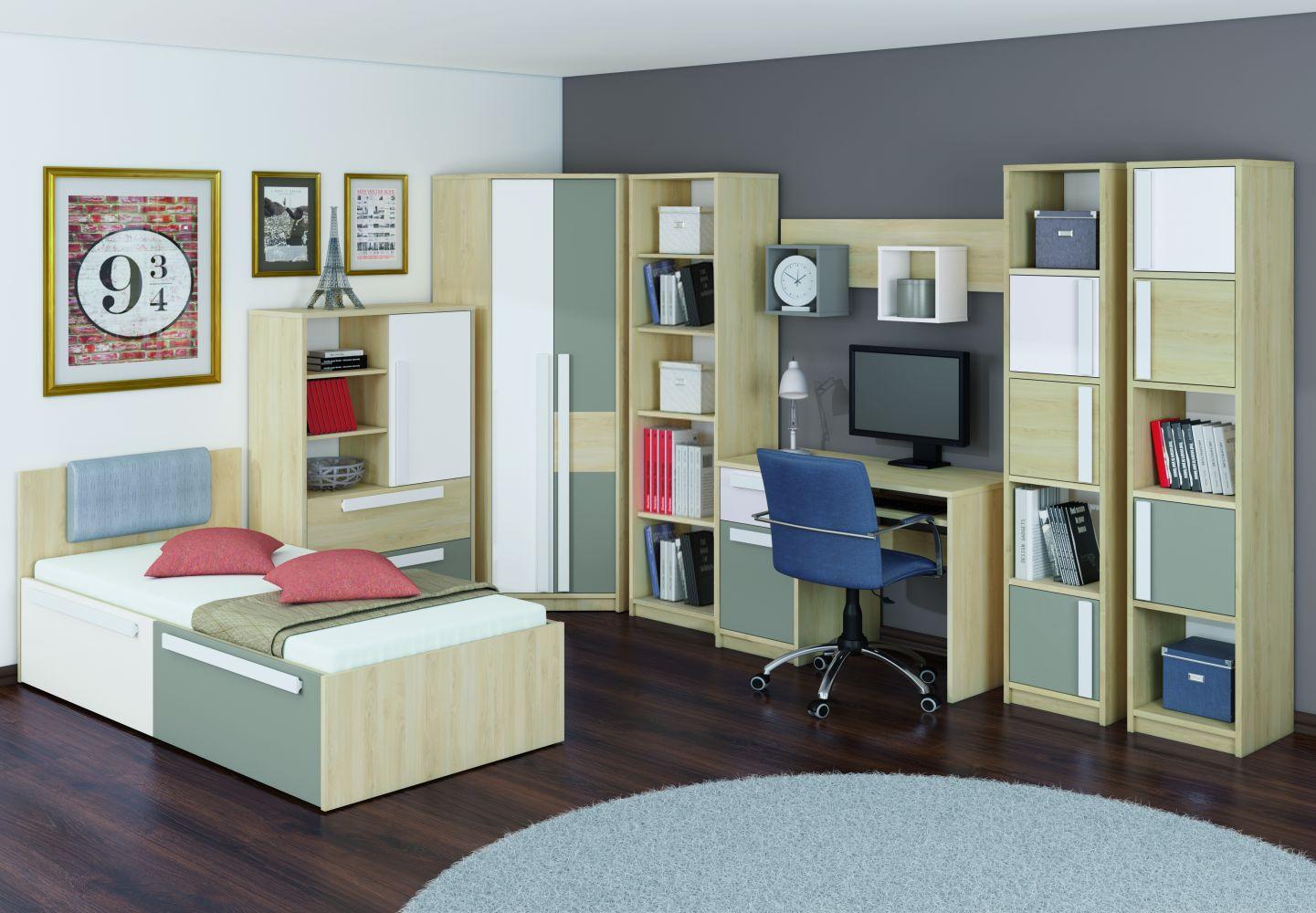 Jugendzimmer Regal Greeley 06, Farbe: Buche Abmessungen