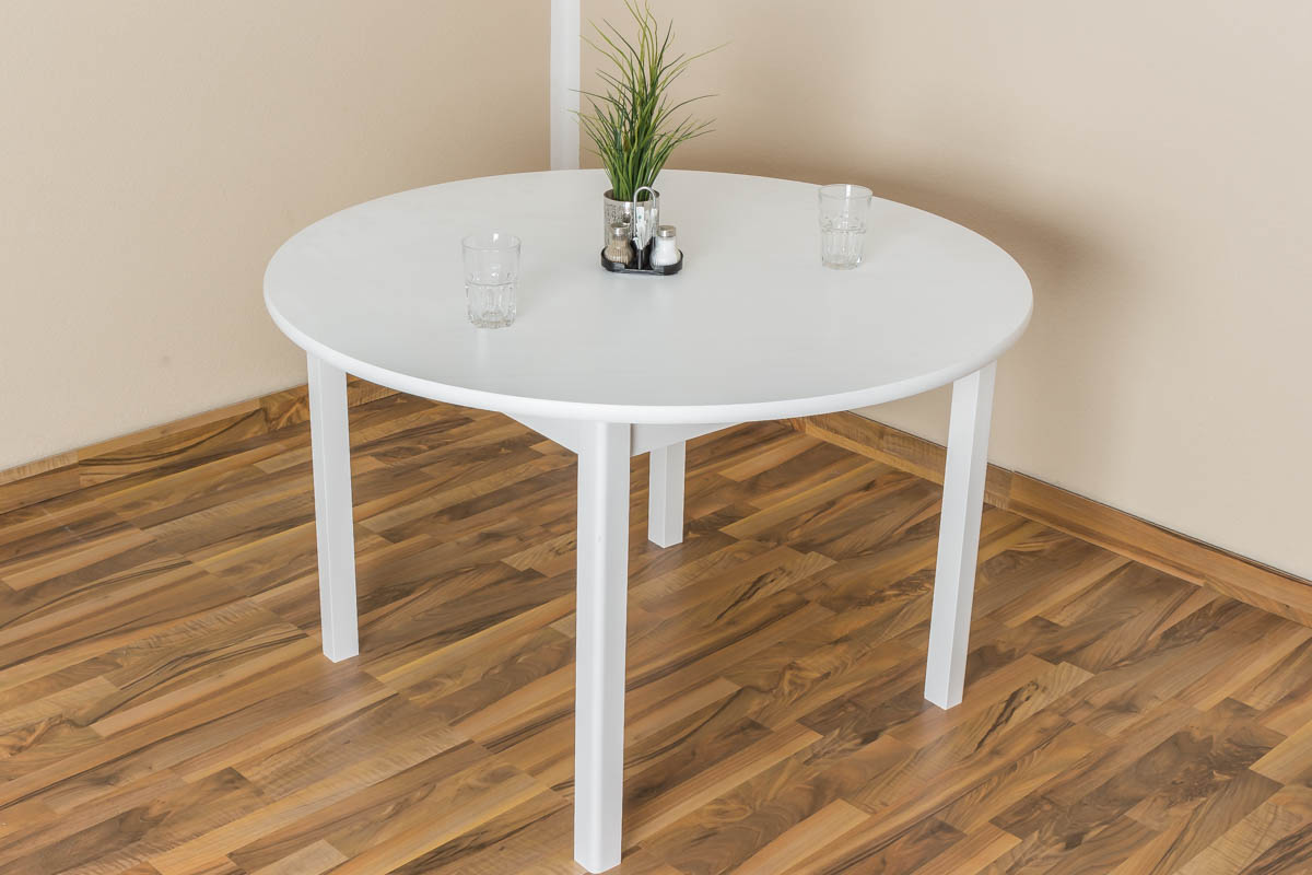 Tisch Kiefer Massiv Vollholz Weiß Lackiert Junco 235b Höhe 75 Cm